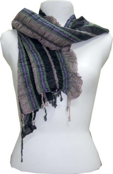 Dushaalaa Striped Viscose Women's Scarf