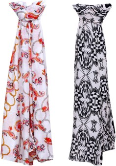 Indistar Self Design Poly Cotton, Poly Cotton Women's Scarf