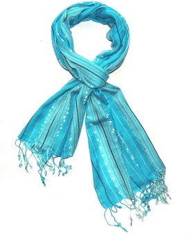 Indian Fashion Guru Striped Viscose Women's Scarf