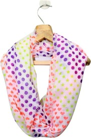 Belleziya Polka Print Cotton Women's Scarf
