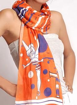 Disney By Shingora Printed Cotton, Silk Women's Scarf - SCFEFYUZYUYGZTYV