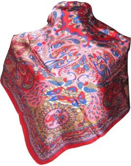 Indianart Printed Satin Silk Women's Scarf - SCFE84H8HVG9ZVSX