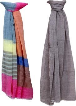 Indistar Self Design Cotton/Modal Women's Scarf