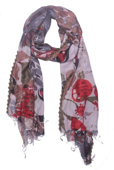 Semantika Printed Silk Blend Women's Scarf