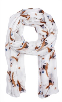 Noise Animal Print Viscose Women's Scarf - SCFE4JCCC5FUZZBG