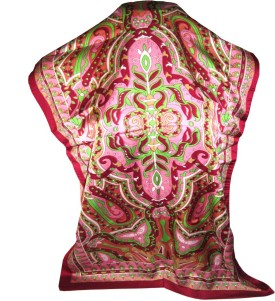 Indianart Printed Satin Silk Women's Scarf