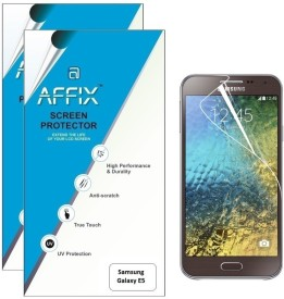Affix P2CL136 Pack of 2 Clear Screen Guard for Samsung Galaxy E5