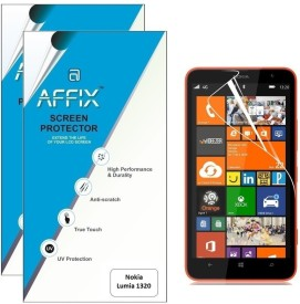 Affix P2CL117 Pack of 2 Clear Screen Guard for Nokia Lumia 1320