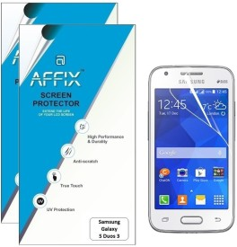 Affix P2CL170 Pack of 2 Clear Screen Guard for Samsung Galaxy S duos 3
