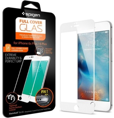 Spigen SGP11635 Full Coverage Tempered Glass Screen Guard for Apple iPhone 6S Plus/6 Plus