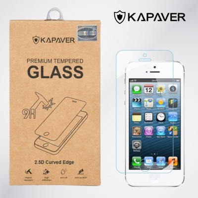 KAPAVER Apple iPhone 5/5S/5C Tempered Glass for Apple iPhone 5/5S/5C