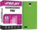 Unistuff 71488 [COMBO OFFER]: Mattte Finish Hard Case Back Cover (Green) With Premium HD Finish PRO+ Tempered Glass Tempered Glass For Redmi Note, Redmi Note Prime