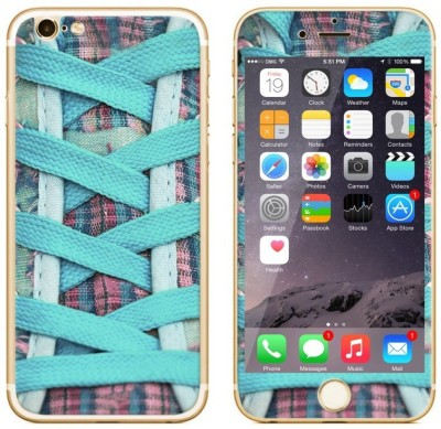 Dress My Gadget Funky Shoes Designer Front & Back Tempered Glass for iPhone 6