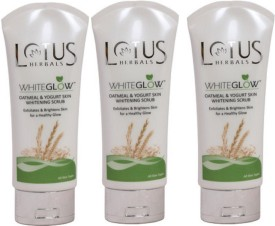 Lotus Herbals White Glow Oatmeal & Yogurt Skin Whitening Scrub