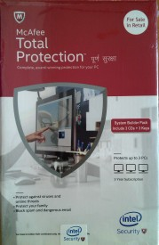 Mcafee Intel Total Protection 3user 3 year version