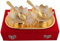 Jaipur Trade Silver And Gold Plated Kamal Bowl Set Pack Of 5 Dinner Set (Silver Plated)