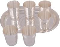 Amba Handicraft Glass Tray Serving Set (Pack Of 7)