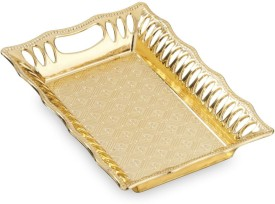 Sukhson India PARKER TRAY GOLD 1 Embossed Plastic Tray