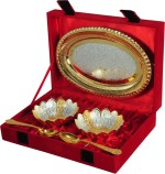 Shreeng Silver And Gold Plated Brass Bowl