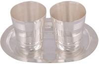 Amba Handicraft Glass Tray Serving Set (Pack Of 3)