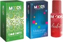 Moods 1500 Dots & Melange Combo With Lube - Pack Of 3
