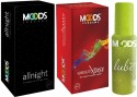 Moods Allnight & Absolute Xtasy Combo With Lube - Pack Of 3