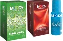 Moods 1500 Dots & Ultrathin Combo 2 With Lube - Pack Of 3