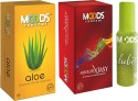Moods Aloe & Absolute Xtasy Combo 2 With Lube - Pack Of 3