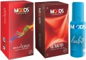 Moods Absolute Xtasy & Ultrathin Combo 2 With Lube - Pack Of 3