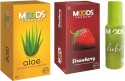 Moods Aloe & Strawberry Combo With Lube - Pack Of 3