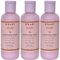 Khadi Mauri Conditioning Cream Shampoo - Pack Of 3 - Premium Herbal (630 Ml)