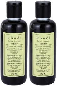khadi Natural Herbal Shikakai Shampoo Pack of 2