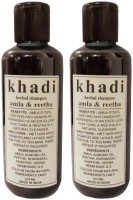 Khadi Herbal Amla And Reetha Shampoo - Twin Pack (420 Ml)