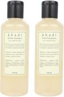 Khadi Harbal Shampoo (Rose, Sandal & Honey) Pack Of 2 (420 Ml)