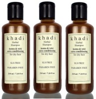Khadi Herbal Henna & Tulsi Extra Conditioning Shampoo (SLS, Sulfate & Paraben Free) (630 Ml)