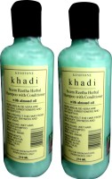 Rockside Khadi Herbal Neem Reetha Shampoo Pack Of 2 (420 Ml)