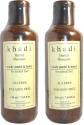 Khadi Herbal Shampoo Woody Sandal & Honey (for Normal Hair)- SLS & Paraben Free (Pack Of 2) - 420 Ml