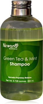 Nirwana Herbal Green Tea & Mint Shampoo