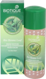 Biotique Bio Henna Leaf Fresh Texture Shampoo & Conditioner With Color