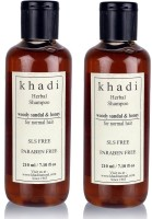 Khadi Herbal Woody Sandal & Honey Shampoo (SLS, Sulfate & Paraben Free) (420 Ml)