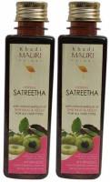 Khadi Mauri Sat Reetha Shampoo - Pack Of 2 - Premium Herbal (500 Ml)