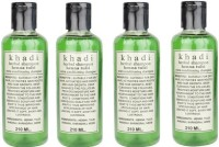 Khadi Herbal Henna Tulsi Shampoo Pack Of 4 (840 Ml)