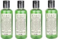 Khadi Herbal Henna Tulsi Shampoo Pack Of 4 (840 Ml)