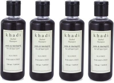 Khadi Herbal Amla & Bhringraj Shampoo (SLS, Sulfate & Paraben Free) (840 Ml)