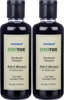Healthbuddy Zerotox Handmade Shampoo Amla & Bhringraj, 2 Packs Of 210 Ml Each (420 Ml)