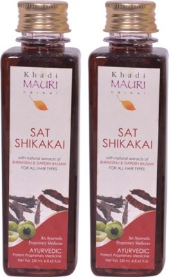 Khadi Mauri Sat Shikakai Shampoo Premium Pack of 2