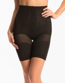 PrettySecrets Black Leaf Super Slimming Hip & Thigh Shaper Women's Shapewear