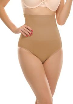 Clovia High Waist Tummy Control Panty In Nude Women's Shapewear
