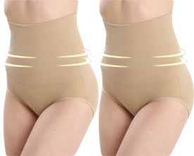 Opulent Seamless High-Waist Mid-Thigh Super Control Tummy Panty Skin Pack Of 2 Women's Shapewear