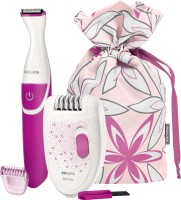 Philips HP6548 Epilator, Bikini Trimmer Combo Pack For Women